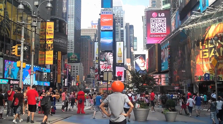 Crosswalk Man in Times Square