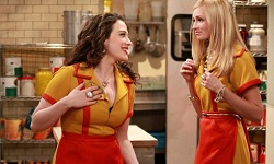 "Max, Caroline and Earl on CBS' ""2 Broke Girls"""