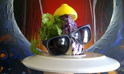 Salad with Sunglasses